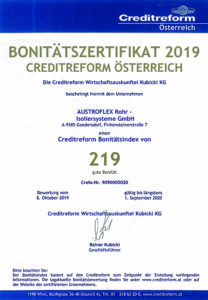 Bonitätszertifikat 2019